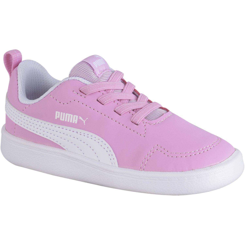 Puma courtflex inf Rosado / blanco