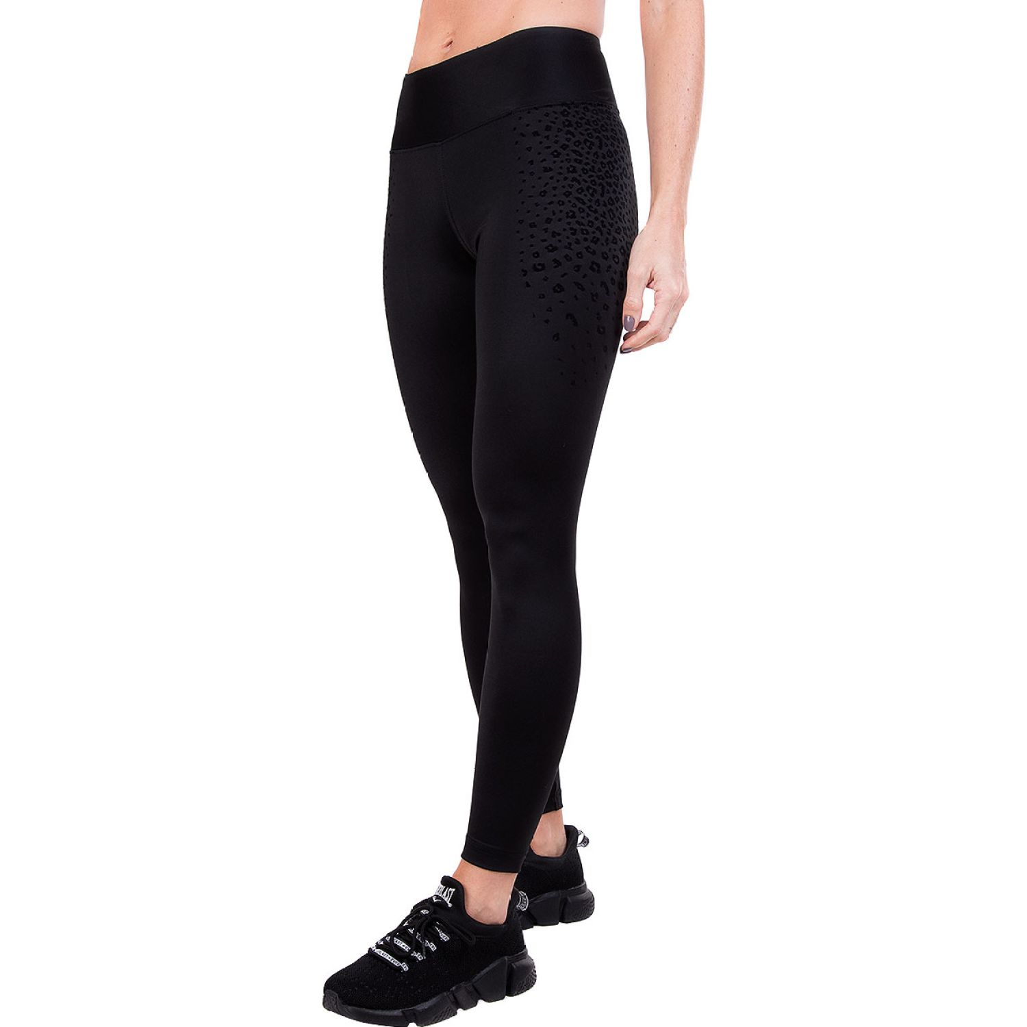 Everlast legging long trim charcoal Negro Leggings Deportivos