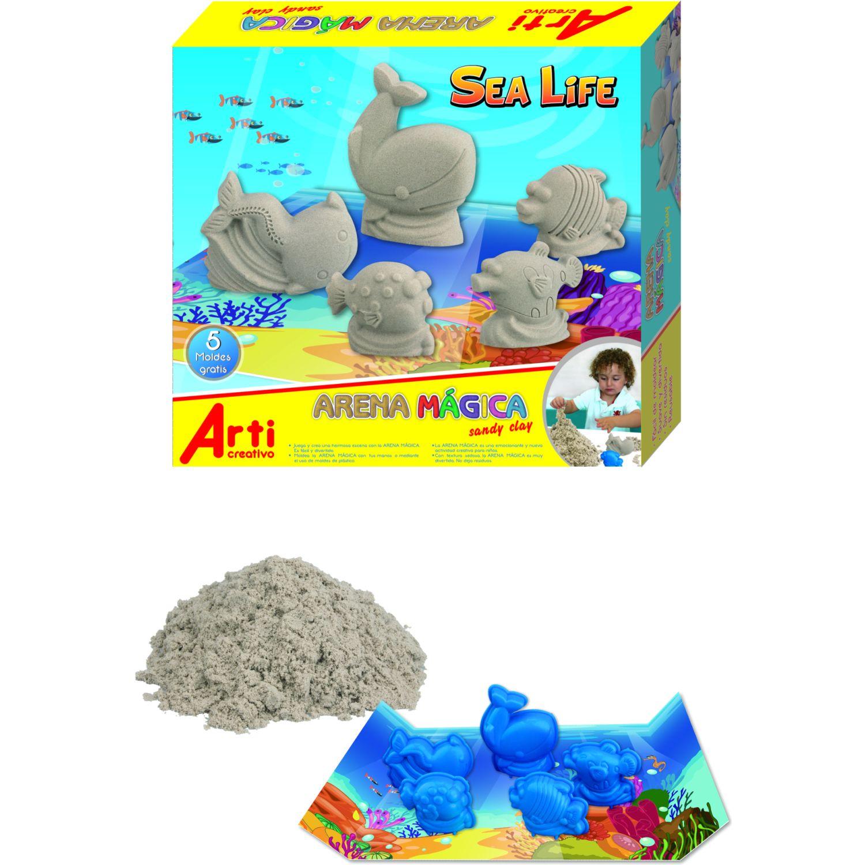 Arti Creativo Arena Magica Sea Life Gris Habilidades básicas