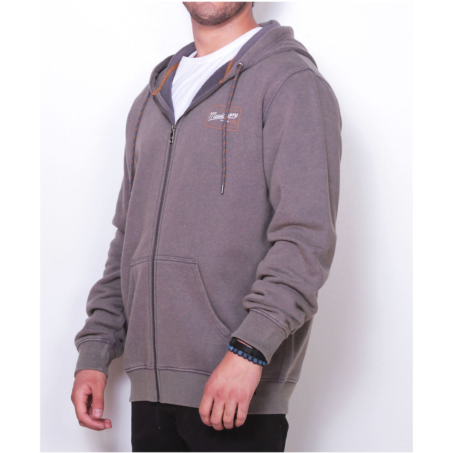 MAUI AND SONS POLERON 5O208-MI19 FZIP LISO Plomo Hoodies y Sweaters Fashion