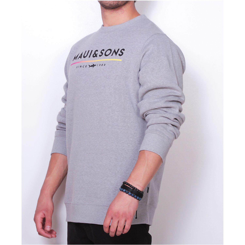 MAUI AND SONS poleron 5o309-mi19 c/r liso Gris Hoodies y Sweaters Fashion