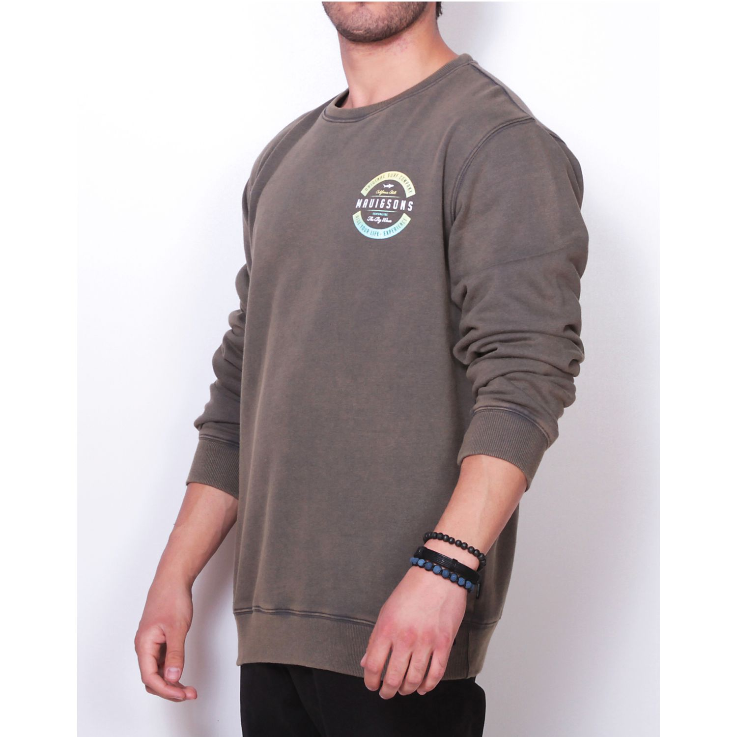 MAUI AND SONS POLERON 5O187-MI19 C/R LISO Olivo Hoodies y Sweaters Fashion