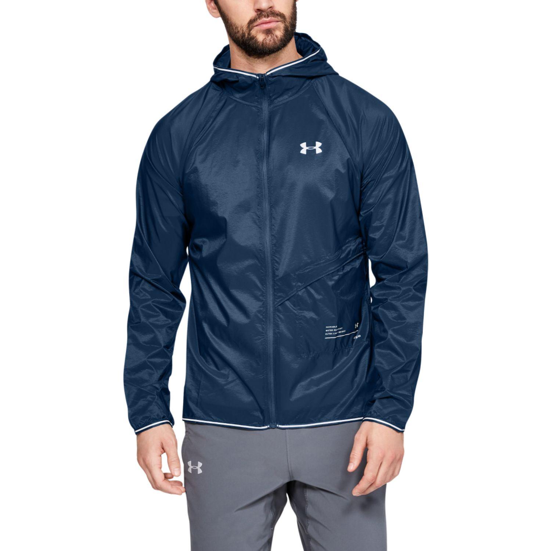 Under Armour ua storm qualifier packable jacket Azul Trinchera y Lluvia