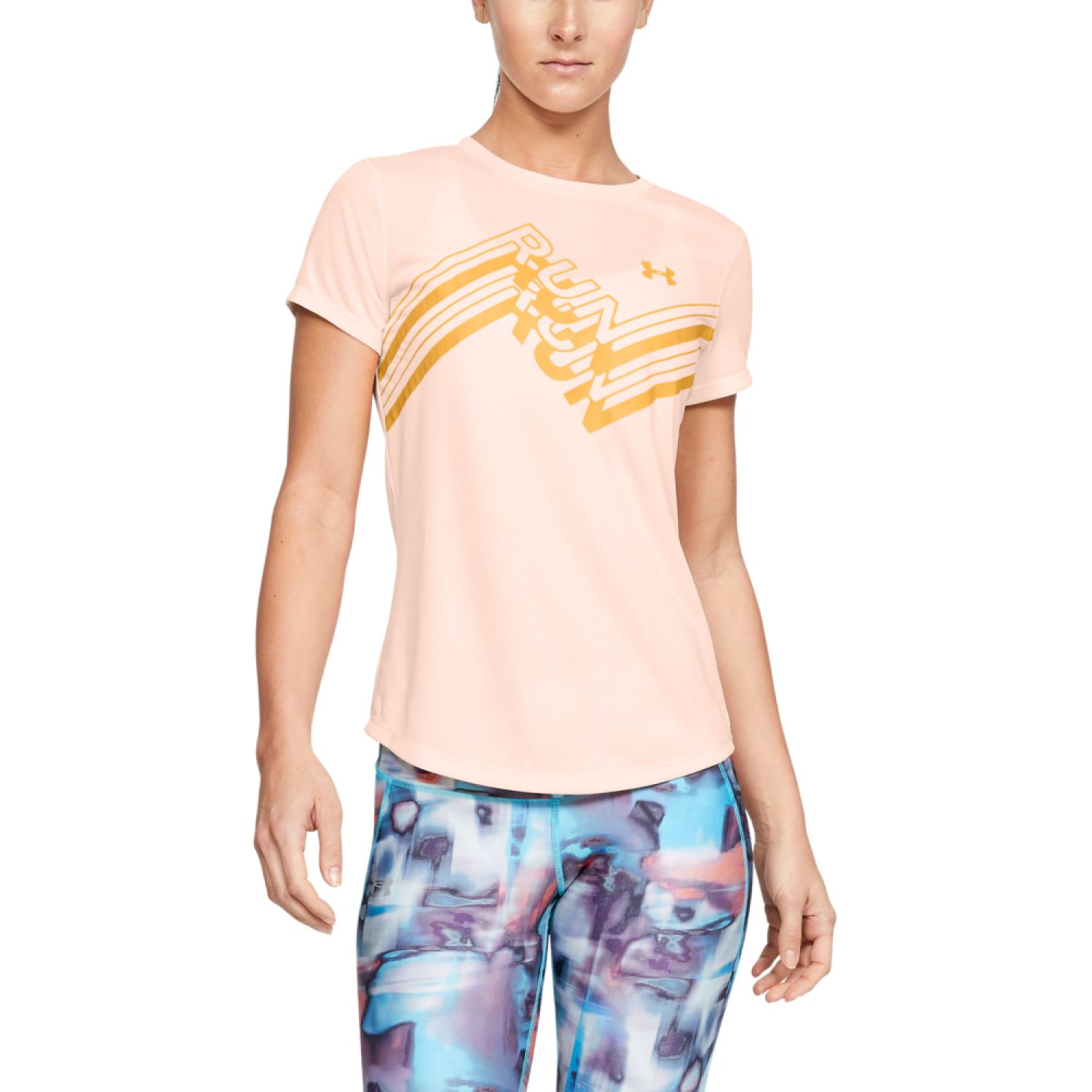 Under Armour Ua International Run Day Tee Melón Polos