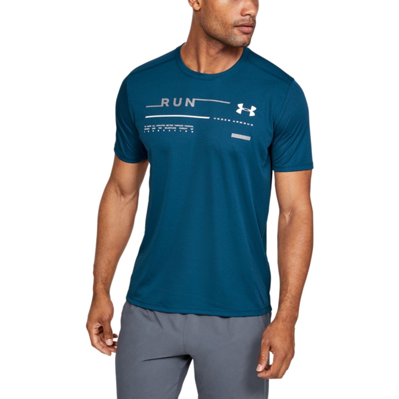 apaciguar Sin personal juntos  Under Armour Ua Run Graphic Tee Azul Camisetas y polos deportivos |  platanitos.com