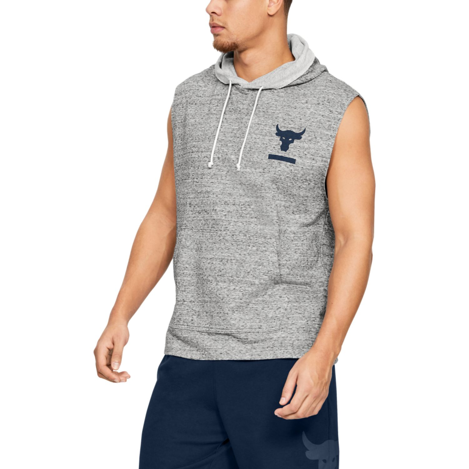Under Armour project rock terry sl hood Gris Chalecos