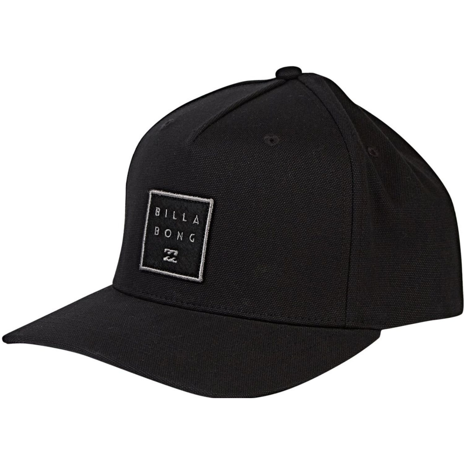 Billabong stacked snapback Negro Gorros de Baseball