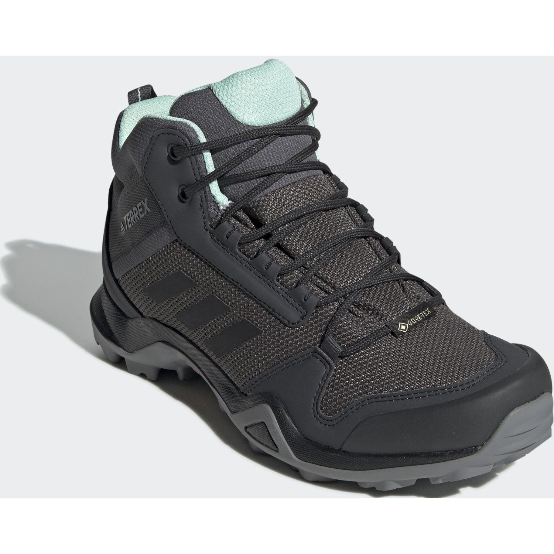 Adidas terrex ax3 mid gtx w Plomo / verde Trail Running