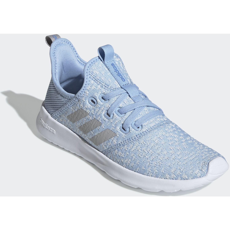 Adidas cloudfoam pure Celeste / blanco Running en pista ...