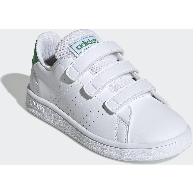 Adidas Advantage C Blanco / verde Walking
