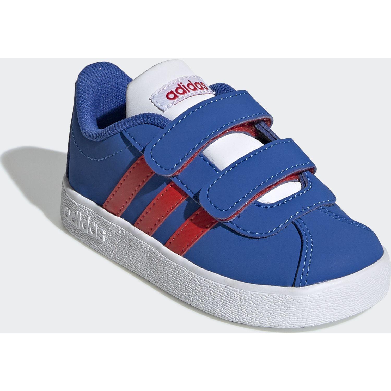 Adidas vl court 2.0 cmf i Azul / rojo Muchachos