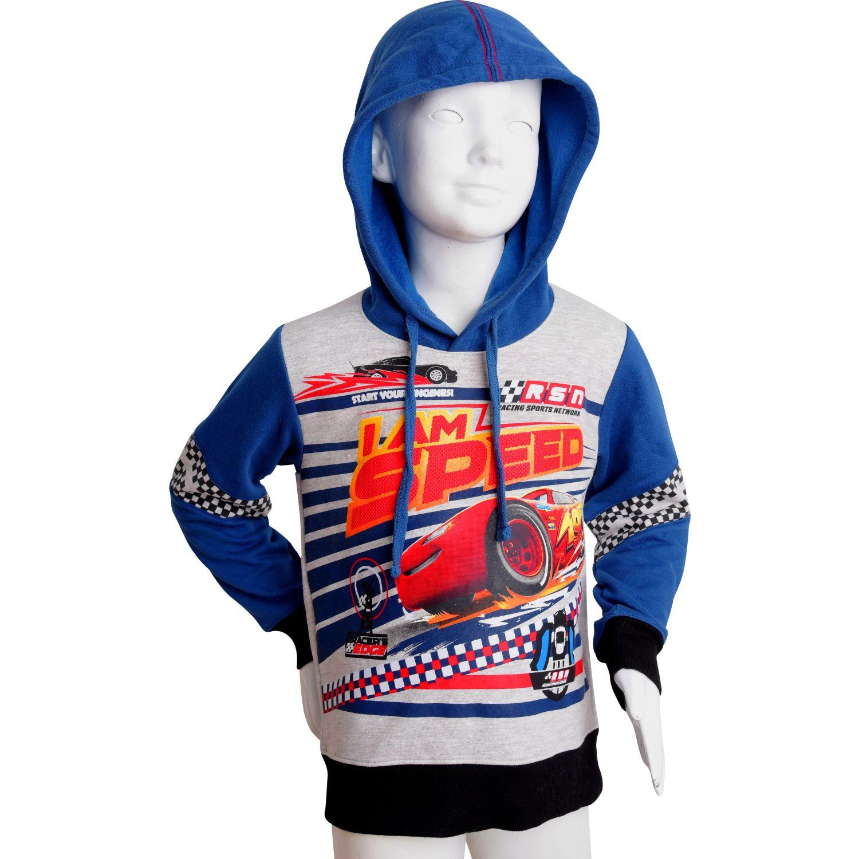Cars Cno-1371-A AZUL / PLOMO Hoodies y sudaderas de moda