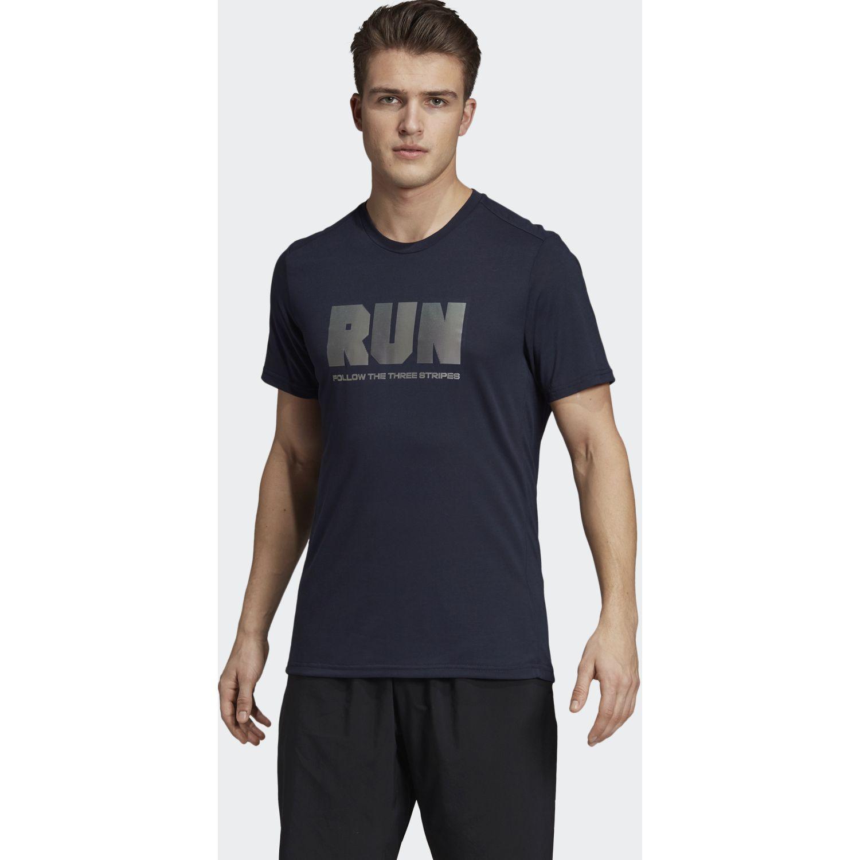 Adidas Confident GFX T Navy Camisetas y Polos Deportivos