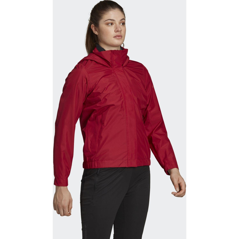 Adidas w ax jkt Rojo Hoodies Deportivos