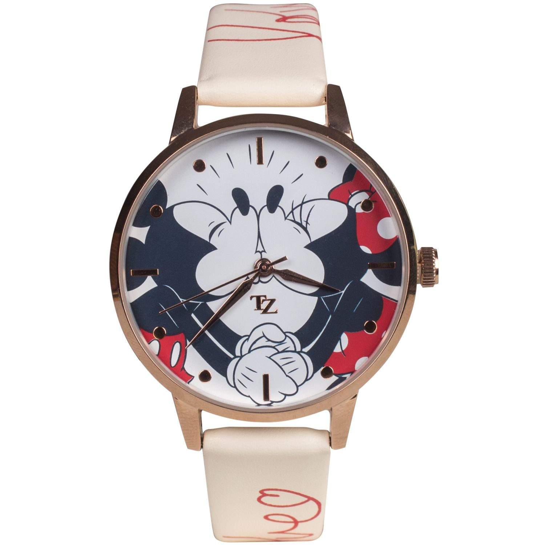 Disney mickey & minnie love 20018 Crema Relojes de Pulsera