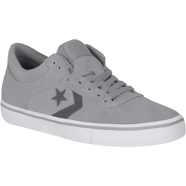 zapatillas converse grises hombre