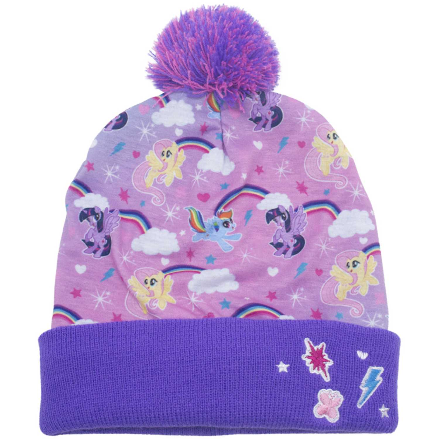 My Little Pony gorro invierno my little p0ny Lila Sombreros y Gorros