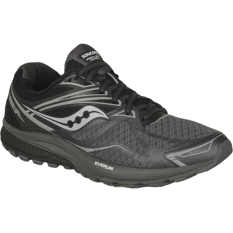 Saucony ride 9 reflex Negro /gris Trail Running