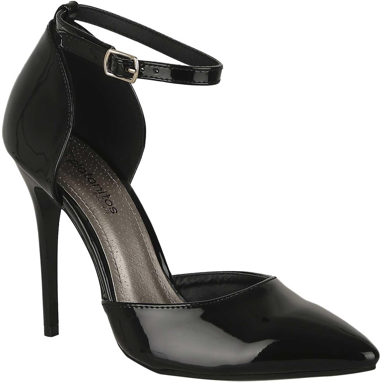 Calzado de Mujer Platanitos Negro c 50338