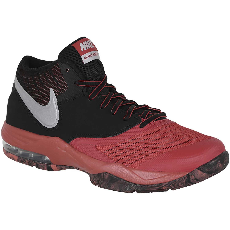 Basquet de Hombre Nike Negro rojo air max emergent