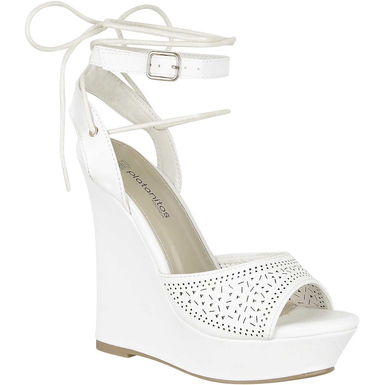 Cuña de Mujer Platanitos Blanco spw letty48