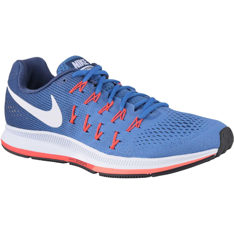 taburete En marcha Te mejorarás  Nike AIR ZOOM PEGASUS 33 Celeste / blanco Trail Running   platanitos.com
