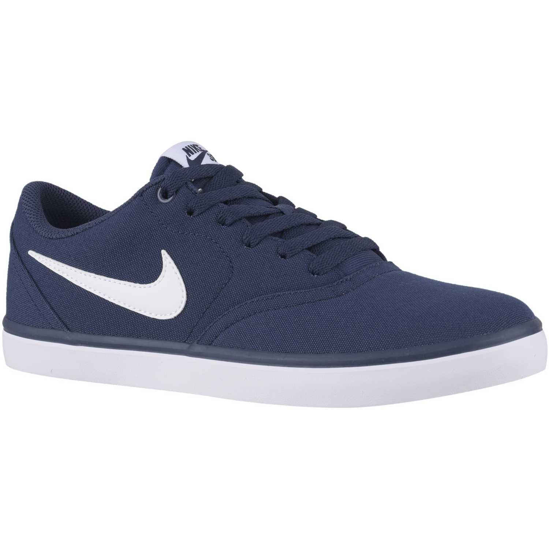 Nike Sb Check Solar Cnvs Azul / blanco Hombres