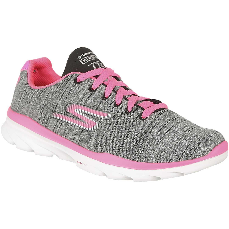 Casual de Mujer Skechers Gris / rosado go fit tr 14094