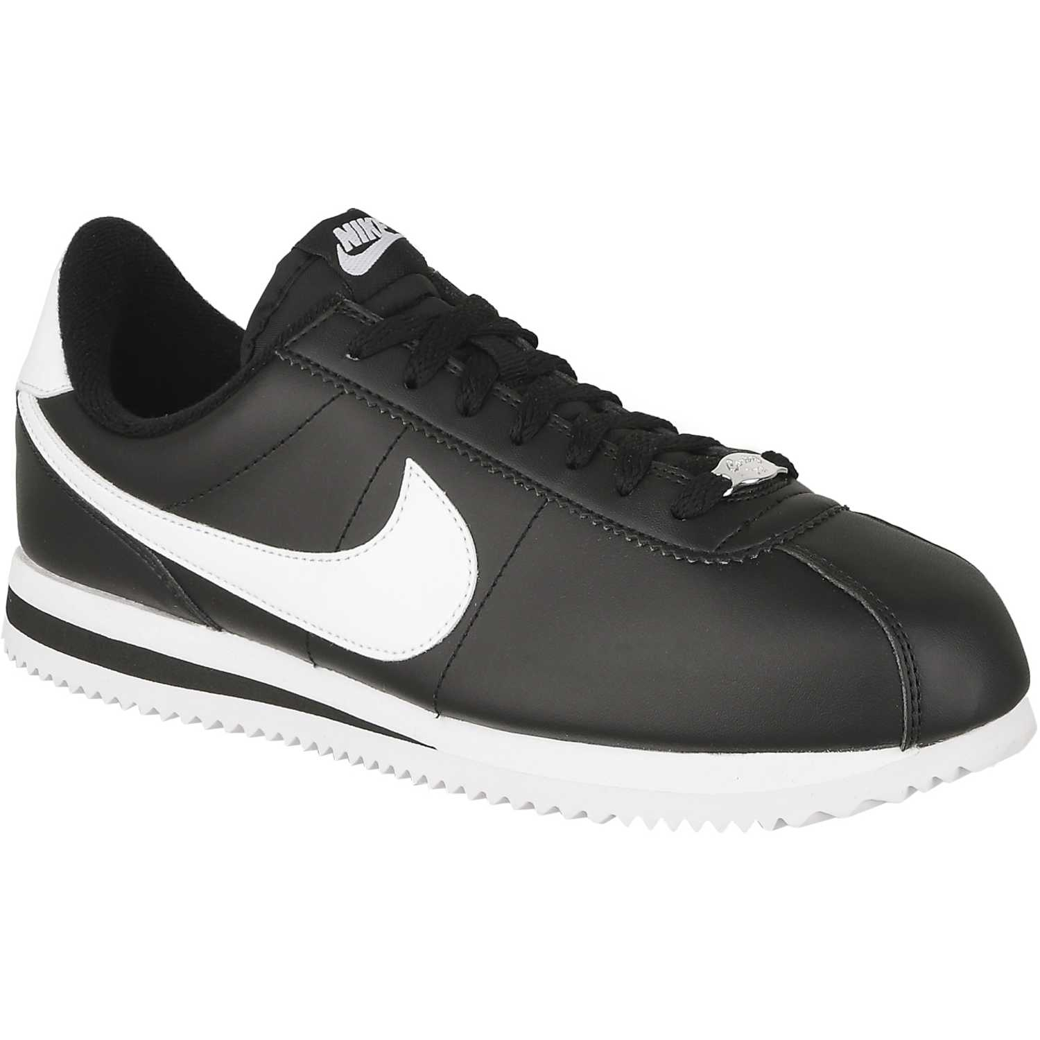 Nike cortez basic leather Negro / blanco Walking