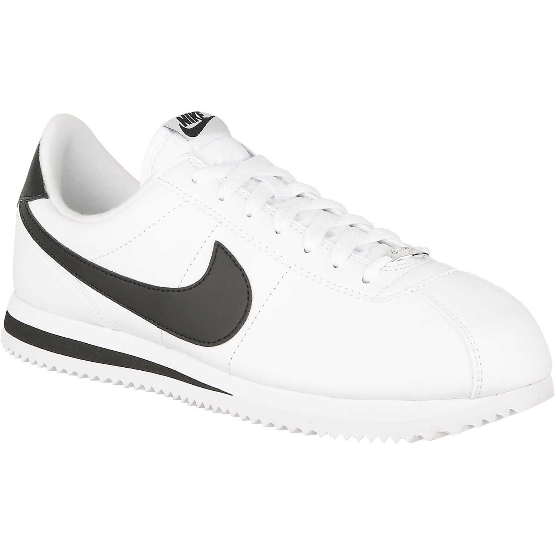 Nike cortez basic leather Blanco / negro Walking