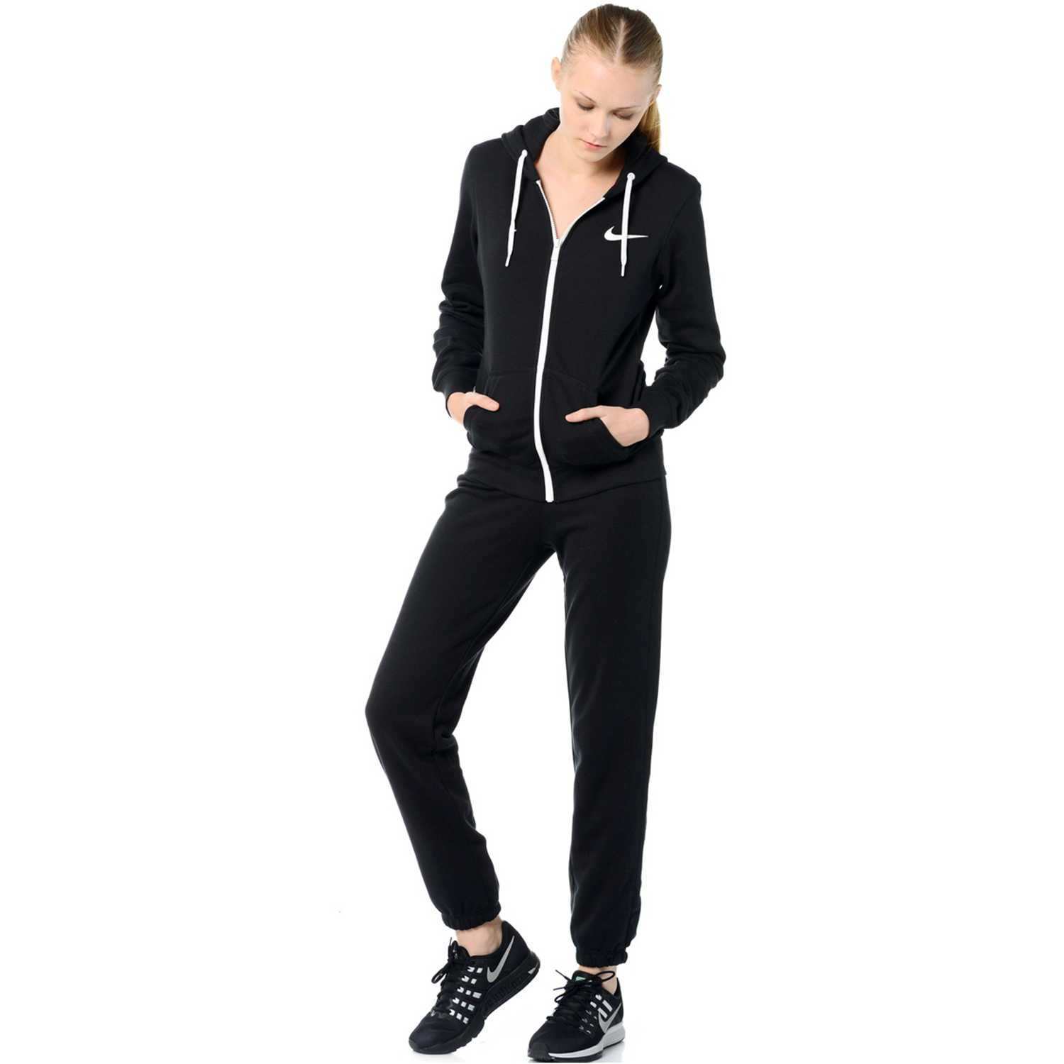 Nike club ft tracksuit Negro Sets Deportivos Tops y Bottoms