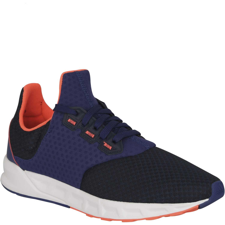 zapatillas adidas azul y naranja