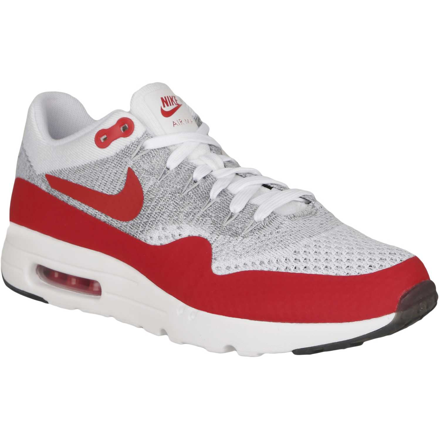 Mujeres Hombres Nike Air Max 1 Ultra Flyknit Sport Rojo