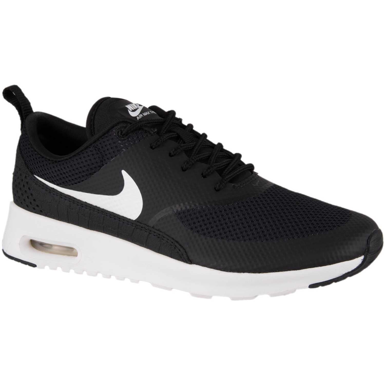 Cuña de Mujer Nike negro blanco wmns air max thea