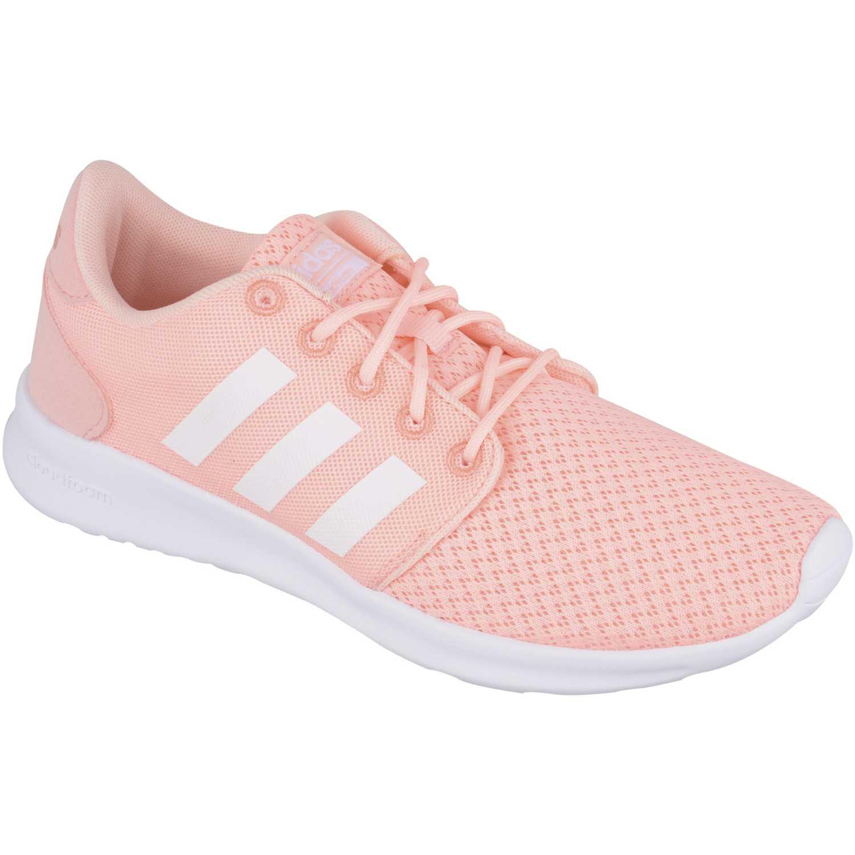 adidas neo gris y rosa