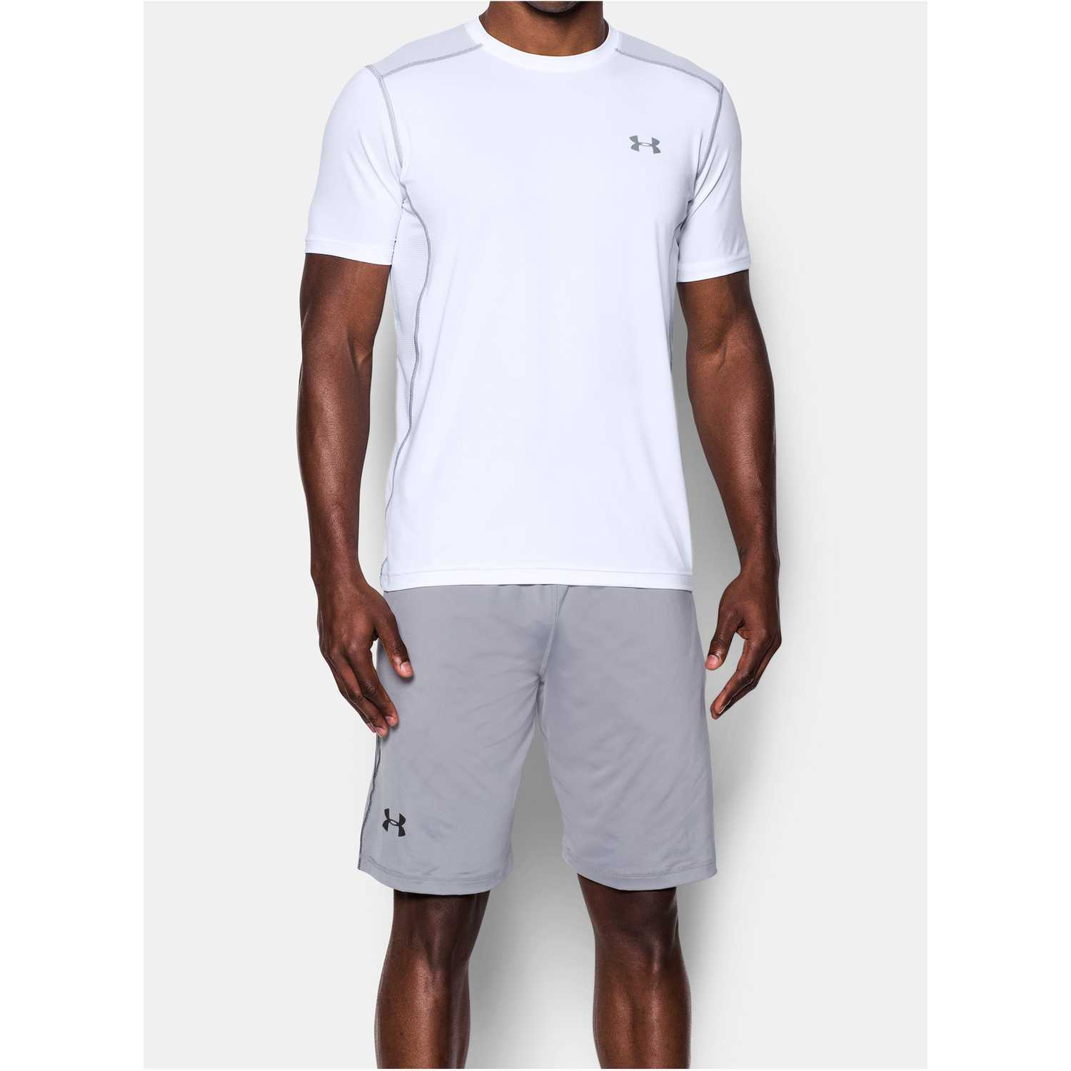 Camisetas de Hombre Under Armour Blanco raid ss tee