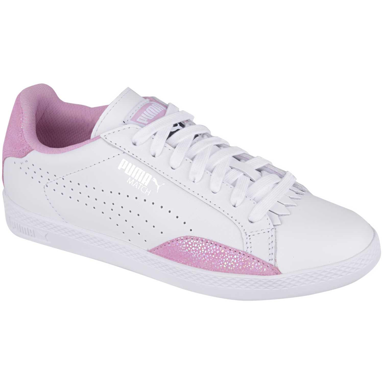 vendible varios diseños Mitad de precio Casual de Mujer Puma Blanco / rosado match lo reset wns ...
