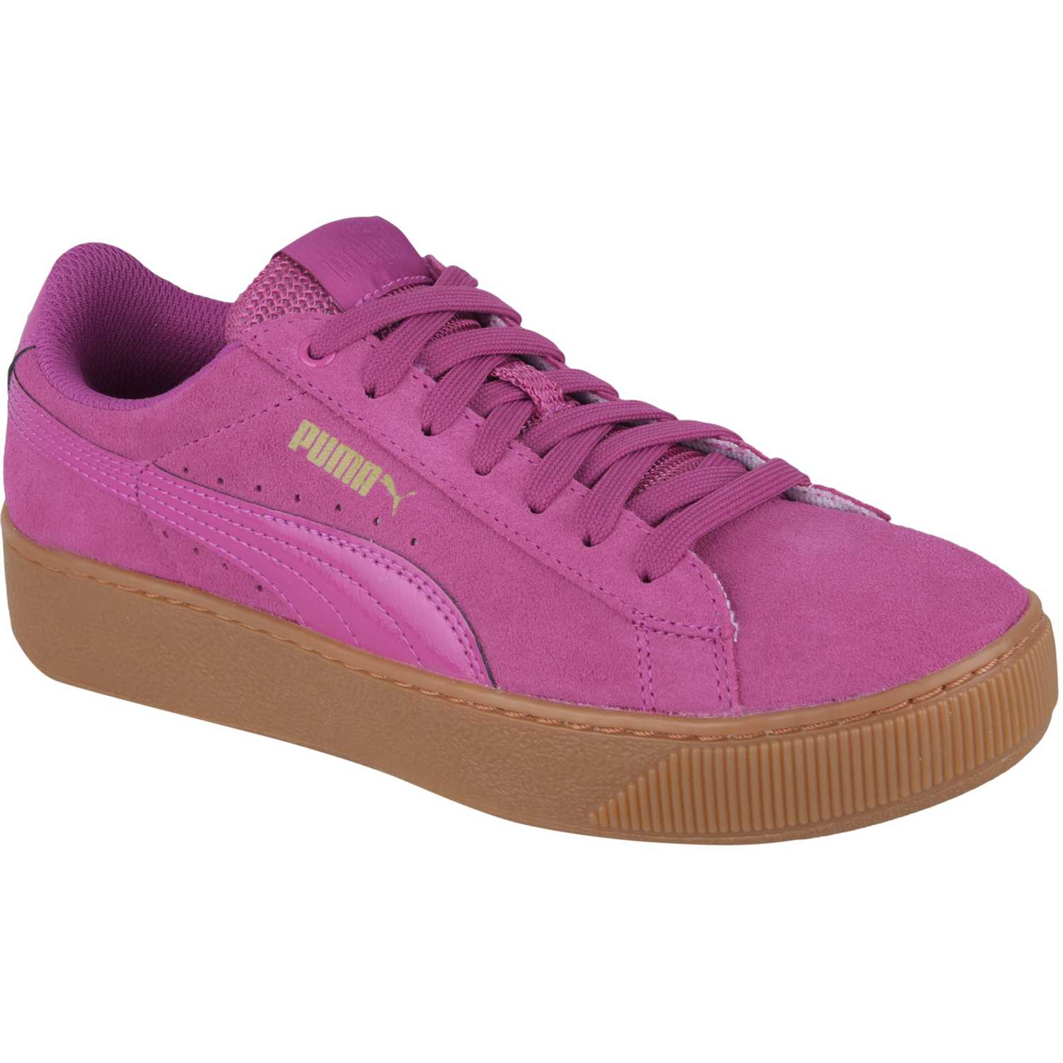 Puma vikky platform Fucsia / marrón Walking