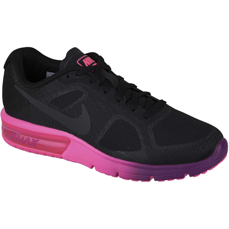 nike air negro and rosado