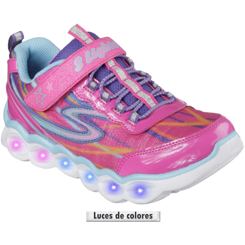 una gran variedad de modelos hermosa y encantadora mejor online Casual de Niña Skechers Rosado lumos 10613l - con luces ...