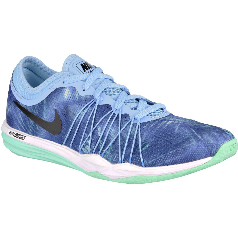 Nike wmns dual fusion tr hit prnt Azul celeste