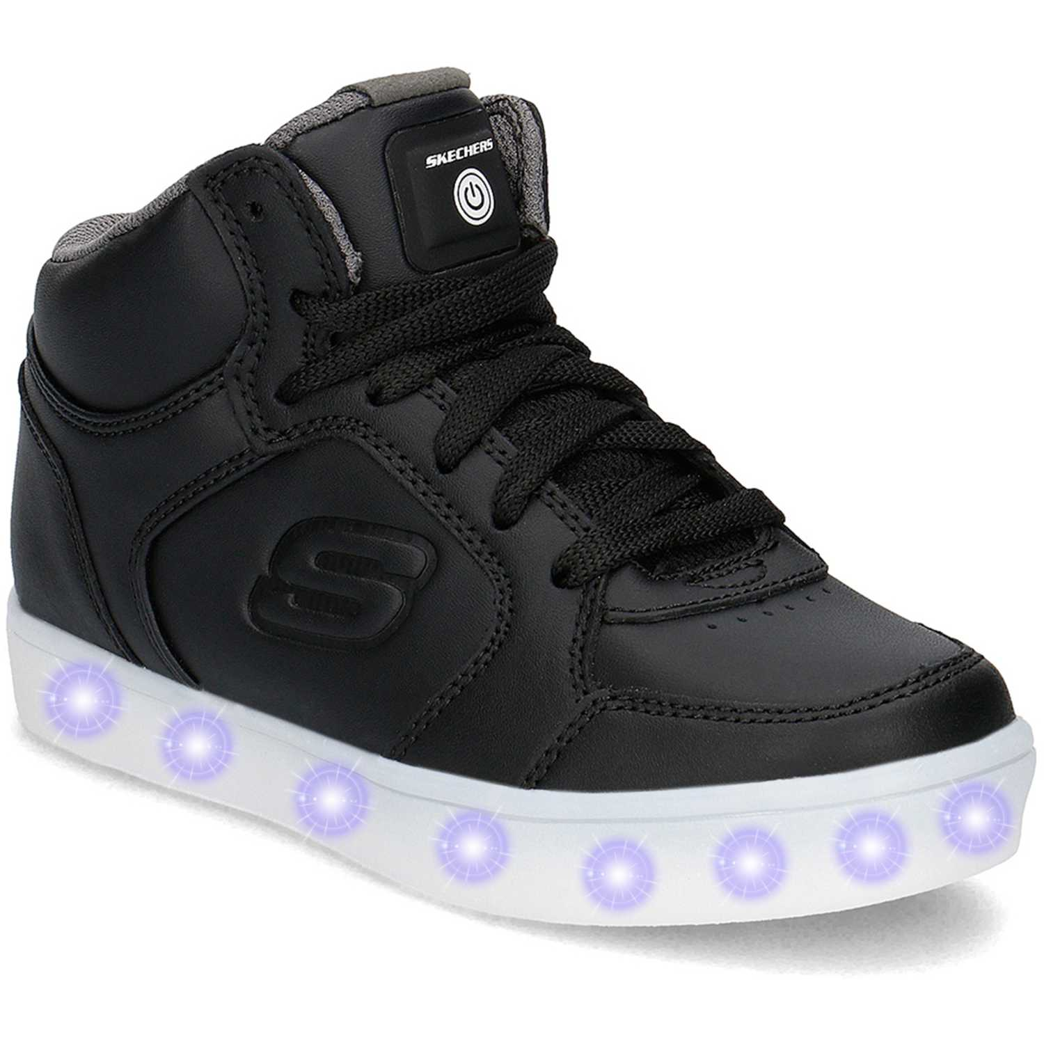 De Lights Skechers Negro Cuña Mujer Energy Con Luces 90600l POkXZuTi