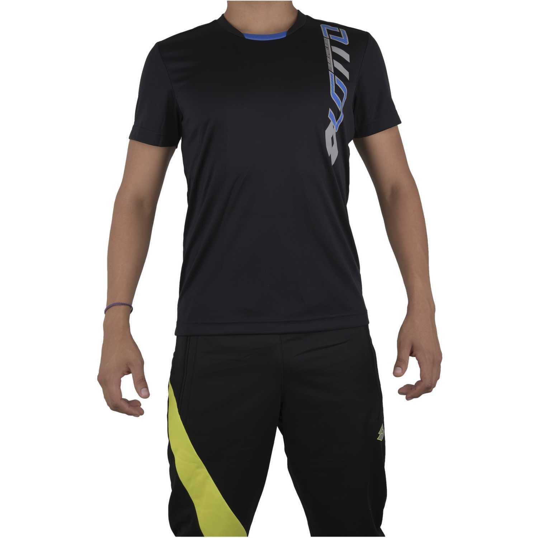 Camisetas de Hombre Lotto Negro t-shirt devin
