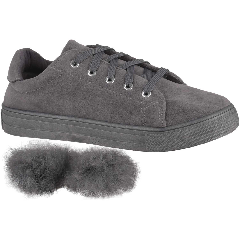 Zapatillas de Mujer Just4u Gris zc-1172