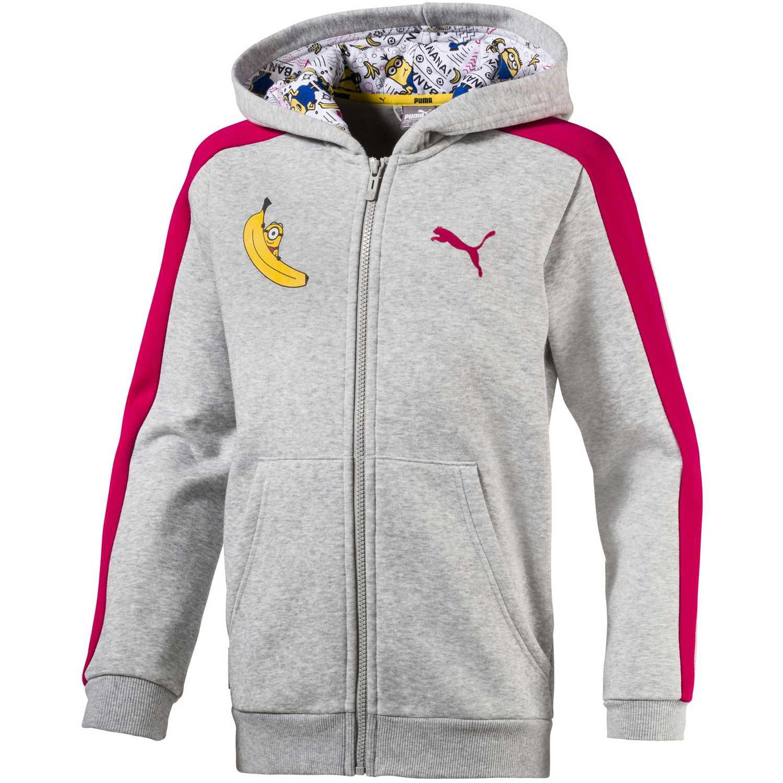 Casacas de Jovencita Puma Gris / fucsia minions hooded jacket