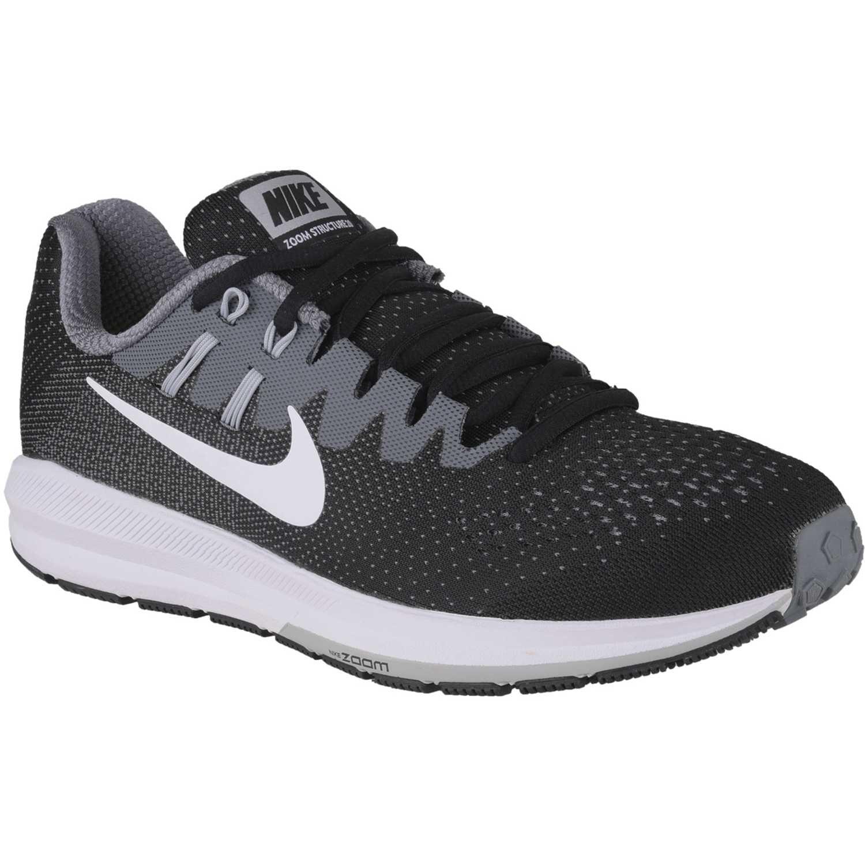 Zapatilla de Hombre Nike Negro Gris air zoom structure 20