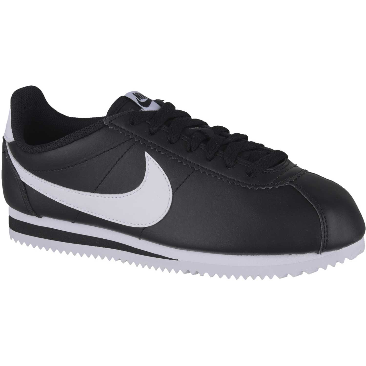 Nike wmns classic cortez leather Negro / blanco Walking