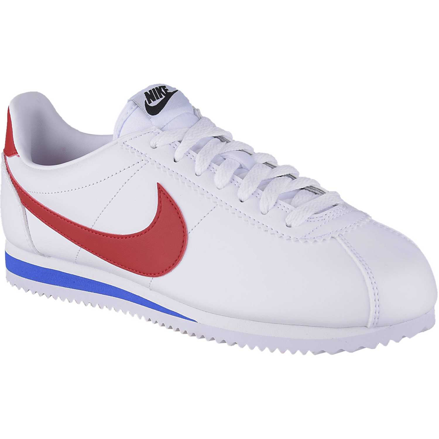 Nike WMNS CLASSIC CORTEZ LEATHER Blanco / rojo Walking