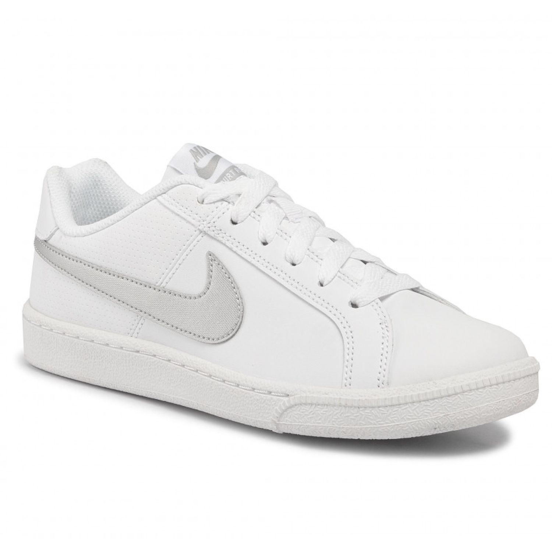 Nike Wmns Court Royale Blanco / plateado Para caminar