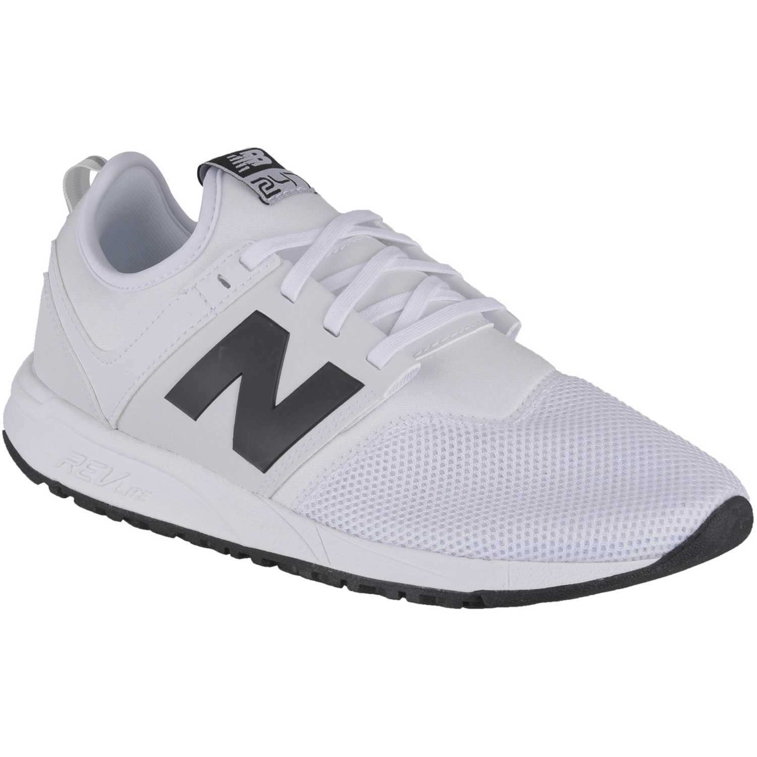 New Balance 247 Blanco / negro Walking | platanitos.com